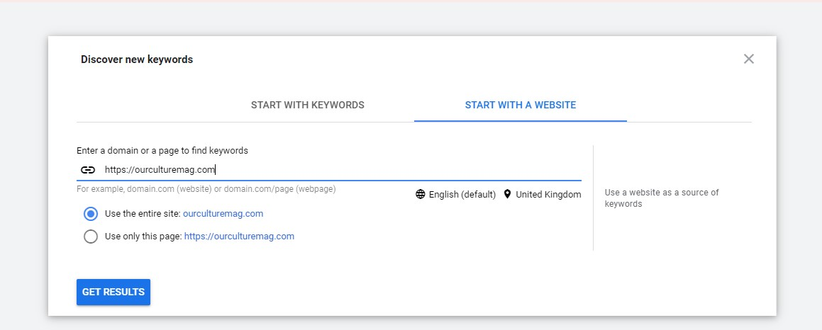Google Ads: Keyword Planner is a great way to find content ideas.