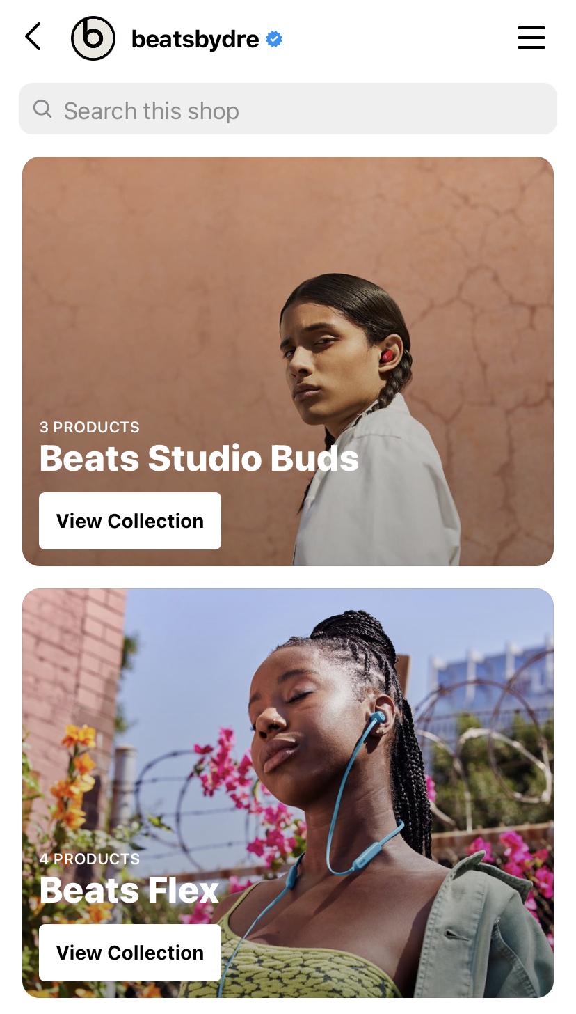 Beats By Dre Instagram Shop